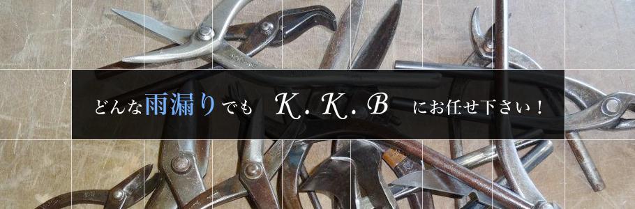 どんな雨漏りでもK.K.Bにお任せ下さい!